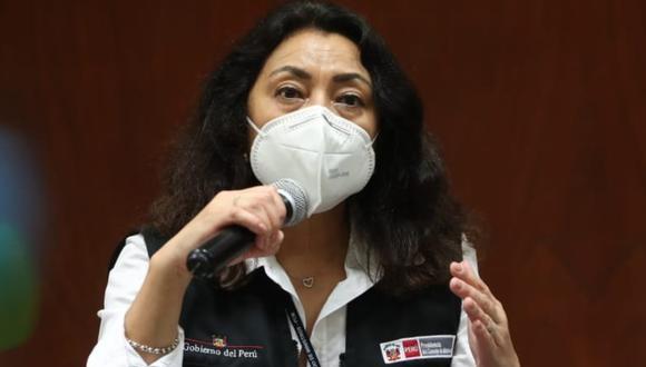Violeta Bermúdez dijo no descartar vacunación de miembros de mesa para las Elecciones 2021. (Foto: PCM)