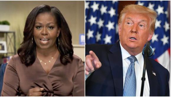 El presidente de Estados Unidos, Donald Trump, respondió con fuerza este martes a los ataques que la ex primera dama Michelle Obama. (Foto: MANDEL NGAN / AFP).