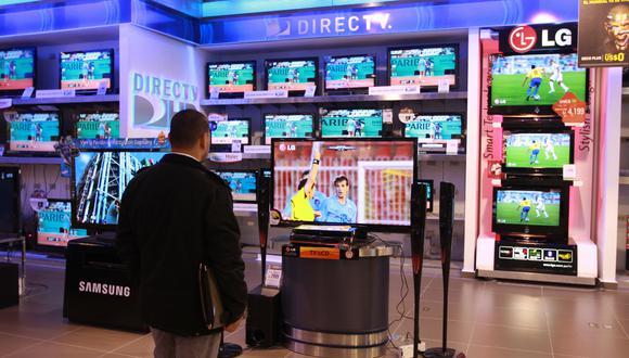 TV. Se compra tamaños grandes. (Foto: GEC)