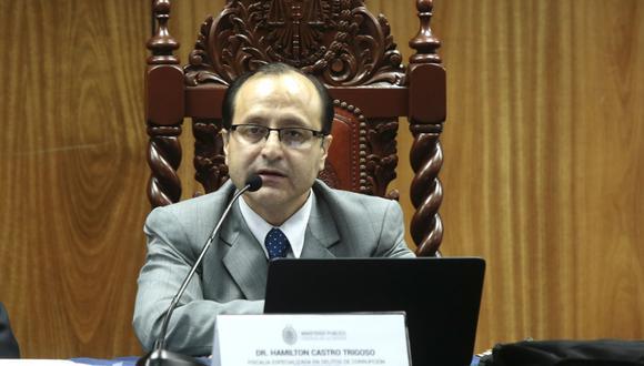 Hamilton Castro, fiscal a cargo de caso Odebrecht. (Foto: USI)