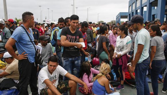 Más de 800 mil venezolanos han migrado al Perú. (AFP / Juan Vita).