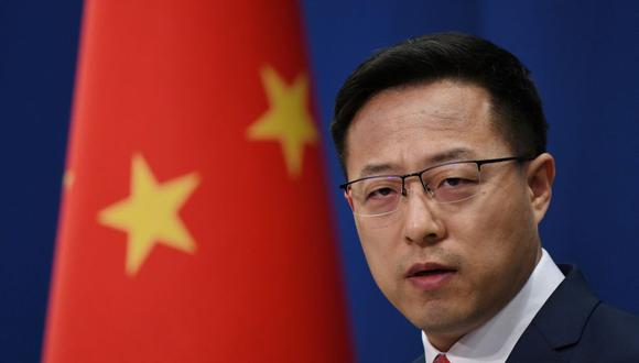 El vocero del Ministerio del Exterior de China, Zhao Lijian. (Photo by GREG BAKER / AFP).