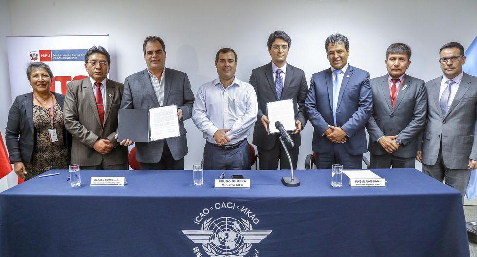 El MTC y la OACI firmaron un acta de acuerdo de asesoramiento técnico para la construcción del aeropuerto de Chinchero.