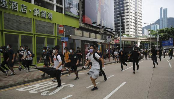 """El proyecto de ley que el régimen comunista depositó el viernes en el Parlamento chino para prohibir la """"traición, la secesión, la sedición y la subversión"""" en Hong Kong, ha vuelto a activar al movimiento prodemocracia. (Foto: AP)"""