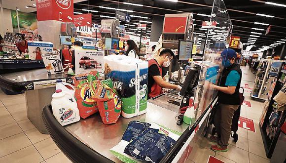 Supermercados. Tuvieron un fuerte avance en ventas en el 2020. (Foto: GEC)