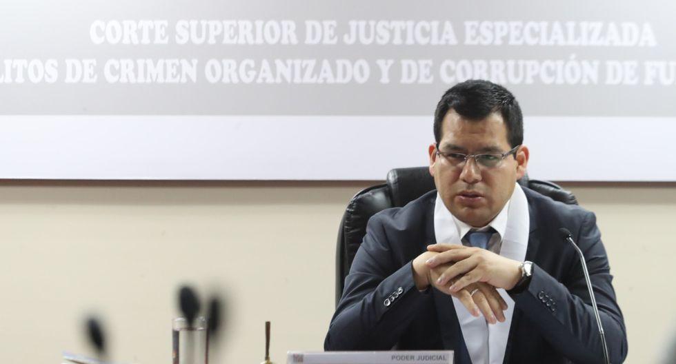 El juez Jorge Chávez Tamariz se pronunció hoy sobre el pedido de prisión preventiva contra Humberto Abanto y otros abogados que arbitraron a favor de Odebrecht. (Foto: Rolly Reyna / GEC)