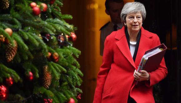 La primera ministra británica, Theresa May. (Foto: AFP)