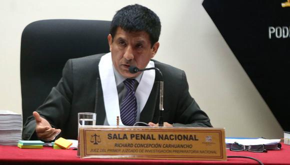 El juez Concepción dijo que hay un alto grado de probabilidad sobre la existencia de un delito tanto de colusión y de lavado de activos (Foto: Andina).