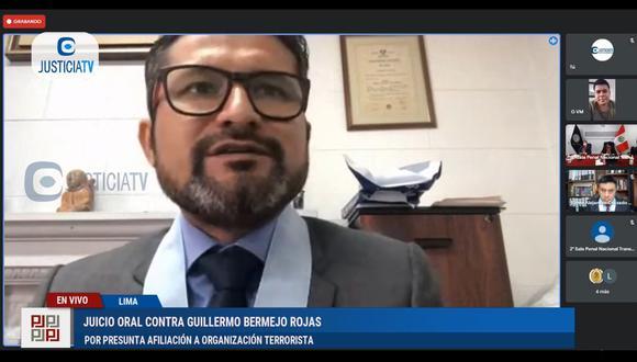 Ronald Atencio participó en la audiencia del juicio contra el congresista Guillermo Bermejo este miércoles 13 de octubre. (Foto: Justicia TV)