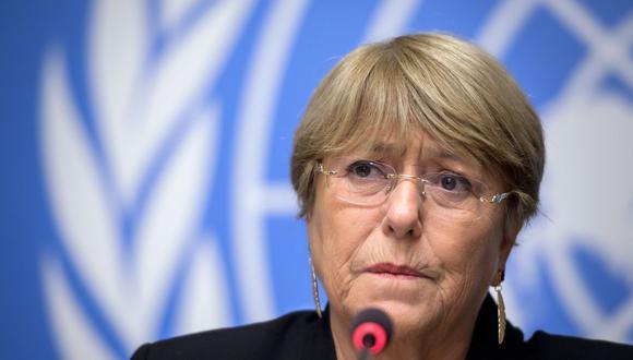 Michelle Bachelet, alta comisionada de Derechos Humanos de la ONU. (Foto: FABRICE COFFRINI / AFP).