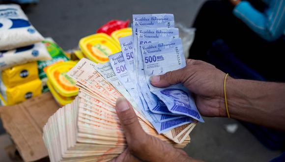 Bolívares soberanos. (Foto: AFP)