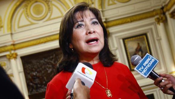 """""""[Esta críticas las] hacen conmigo porque soy mujer y soy fujimorista, entonces, les duele que muchas veces les digas sus verdades"""", señaló Martha Chávez. (Foto: GEC)"""