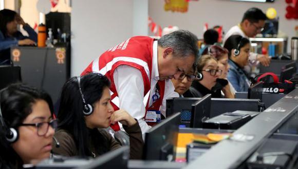 Sunafil fiscaliza call centers.