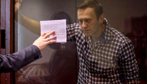 Alexéi Navalny fue sentenciado a prisión por fraude (Foto: AFP).