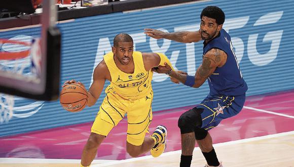 Victoria. El Team Le Bron venció al Team Durant por 170-150 en el juego del domingo pasado. (Foto: Getty Images)