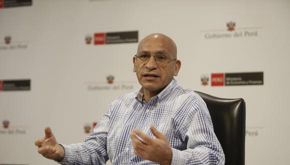 Waldo Mendoza, titular del Ministerio de Economía y Finanzas (MEF). Foto: César Campos/GEC