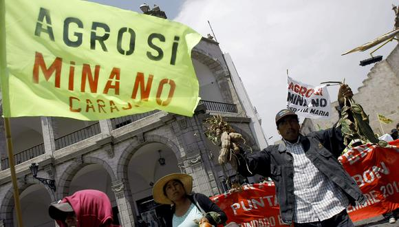 El proyecto Tía María ha estado al centro de numerosas protestas. (Foto: GEC)