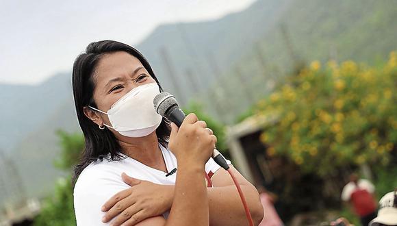 Keiko Fujimori aceptó debatir nuevamente con Pedro Castillo en exteriores del penal Santa Mónica. (Foto: GEC)