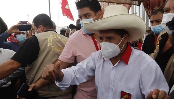 Pedro Castillo declaró sobre la realización de los debates del JNE desde Pucallpa. (Foto: GEC).