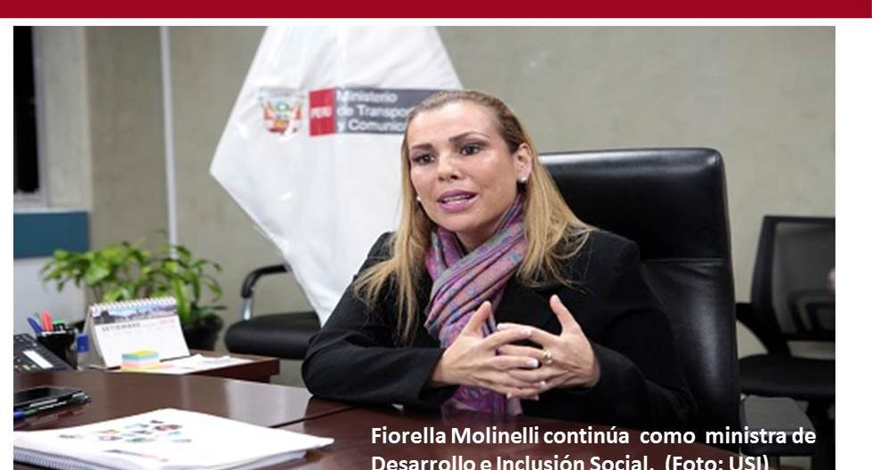 Foto 19 | Fiorella Molinelli continúa como ministra de Desarrollo e Inclusión Social (Midis). (Foto: USI)
