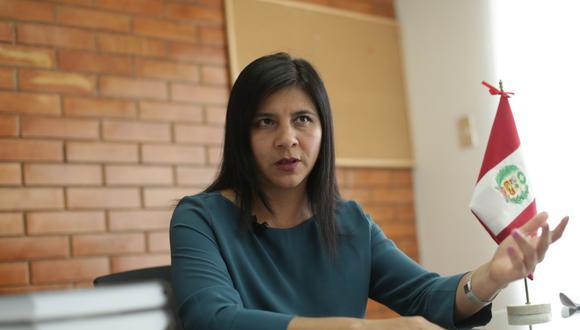 Silvana Carrión afirma que las investigaciones del caso Vizcarra deben seguir adelante con el Equipo Especial Lava Jato. (Foto: Anthony Niño de Guzmán