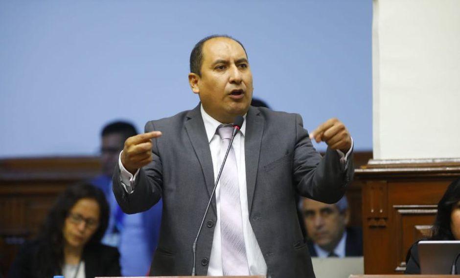 El vocero de la bancada Nuevo Perú, Richard Arce, cuestionó que la mayoría de Fuerza Popular haya bloqueado el debate y la recomposición de comisiones. (Foto: Congreso)