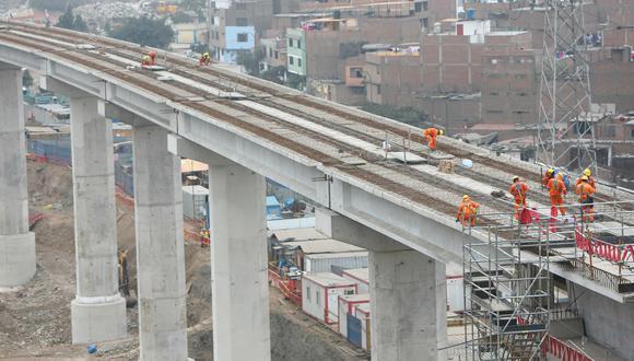 Construcción de la Línea 2 del Metro de Lima (foto: USI).