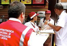 Se formalizaron a 103,898 trabajadores entre enero y agosto, según la Sunafil