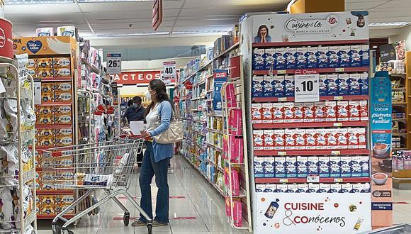 Venta en supermercados. (Foto: Claudia Llontop | GEC)