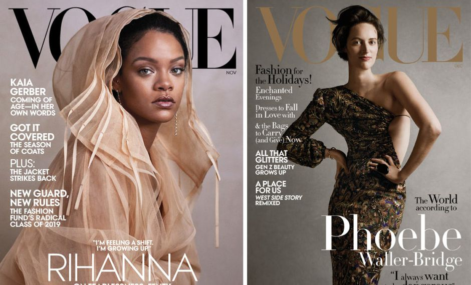 Ethan James Green fotografió a Rihanna y Phoebe Waller-Bridge para Vogue en noviembre y diciembre de 2019 (Fuente: Vogue)