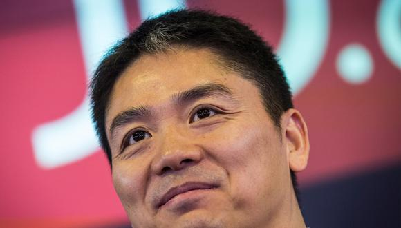 Liu Qiangdong, fundador del gigante electrónico asiático JD.com (Foto: AFP)