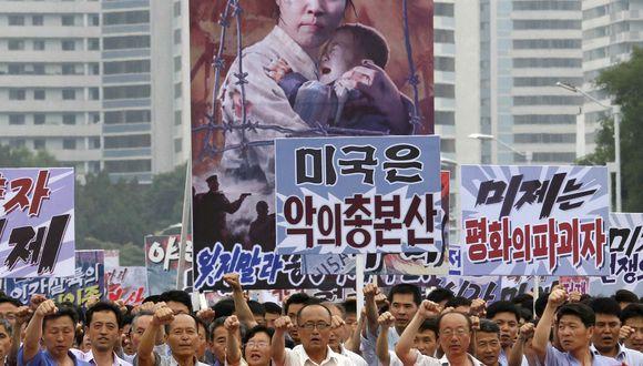 Así se desarrolló la protesta anti-EEUU en el 2017. (Foto: AP)