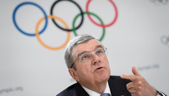 El presidente del Comité Olímpico Internacional (COI), el alemán Thomas Bach, hizo especial hincapié en estos aspectos durante la conferencia de prensa que siguió a una reunión de la Comisión Ejecutiva del COI este miércoles. (Foto: AFP)
