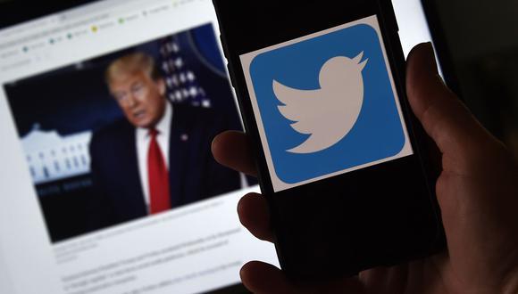 Twitter, la principal plataforma de comunicación de Donald Trump, ha eliminado o etiquetado con advertencias cuestionando los contenidos varios tuits del presidente en las últimas semanas. (Foto:  AFP).