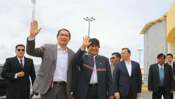 Martín Vizcarra y Evo Morales. (Foto: Trome).