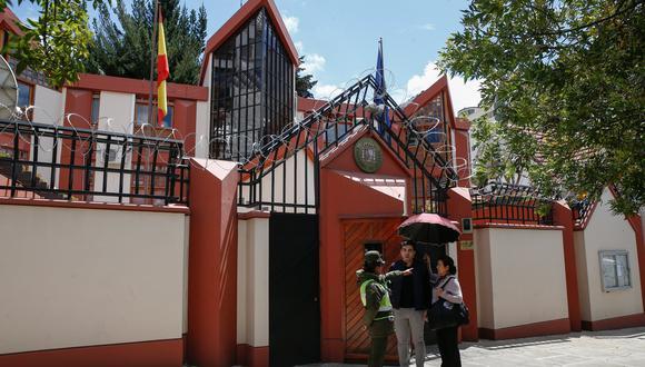 La embajada de España en La Paz, Bolivia. (REUTERS/David Mercado).