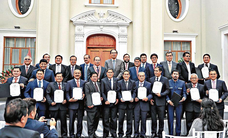 Ceremonia. Veinticinco gobernadores regionales deberán elegir a quien presidirá la ANGR por un año. (Foto: Sepres)