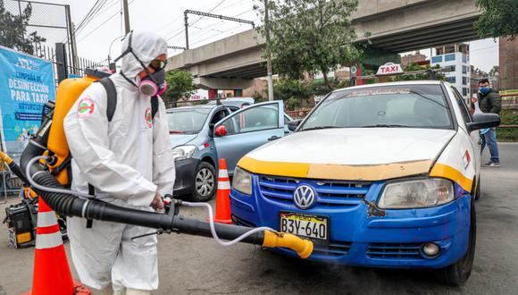 Hasta 266 taxistas podrán desinfectar gratuitamente sus vehículos diariamente en San Juan de Lurigancho. (Foto: ATU)