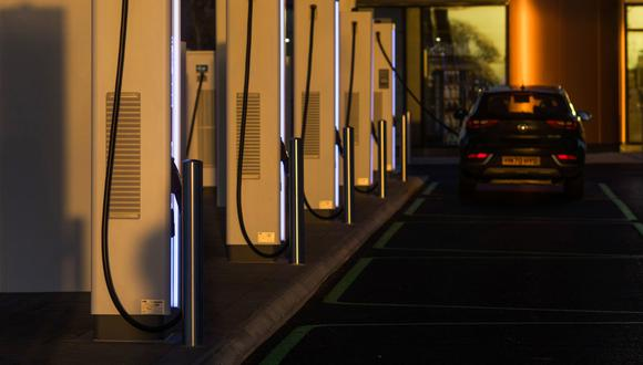 Electric vehicle charging points in Braintree, U.K. Photographer: Chris Ratcliffe/Bloomberg