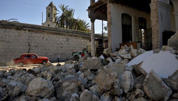 Imagen de las consecuencias del paso de un tornado por La Habana, Cuba, en enero de 2019 (Foto: AFP)