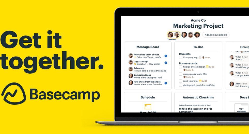 FOTO 1 | 1. BasecampEs importante estar conectado con tu equipo, incluso si estás de viaje. Basecamp te permite manejar proyectos a distancia, sin importar dónde te encuentres.
