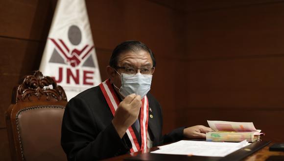 Jorge Luis Salas Arenas indicó que el pleno del JNE ya tendrá un accesitario. (Foto: Anthony Ramírez Niño de Guzmán / GEC)