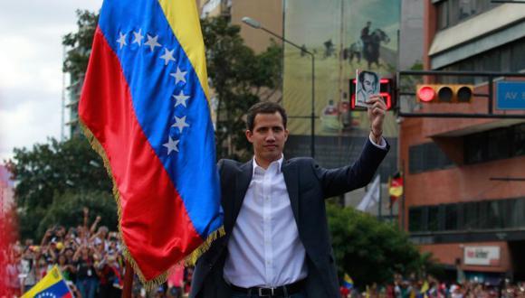 Juan Guaidó también será recibido la tarde de este viernes por el presidente Mauricio Macri. (Foto: EFE)