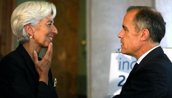 Mark Carney del Banco de Inglaterra (der.) y Christine Lagarde del BCE. (Foto: Reuters)