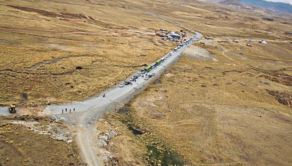 Zona despejada. El bloqueo del corredor minero provocó la paralización al 90% de la producción de la mina. (Foto: PCM)