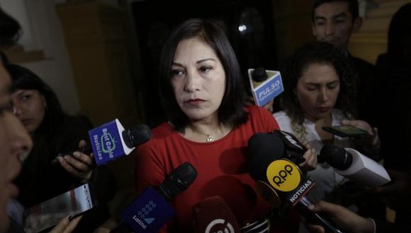 """Milagros Salazar indicó que el Congreso """"pisó el palito"""" al enfrentarse con el Gobierno. (Foto: GEC)"""