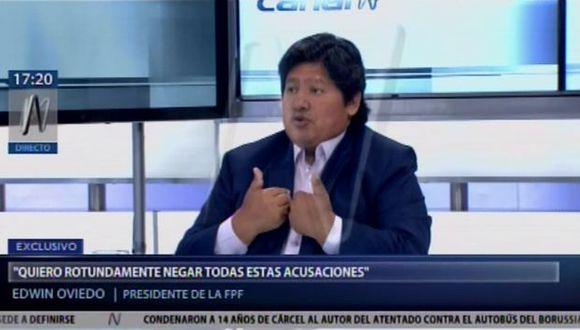 Edwin Oviedo aseguró que asistirá a la audiencia en la que se revisará el pedido de prisión preventiva contra él. (Foto: Canal N)