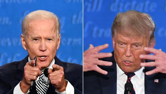 El debate presidencial más caótico de los últimos años, los dos hombres hablaron frecuentemente al mismo tiempo y Trump interrumpió a Biden con tanta frecuencia que el exvicepresidente eventualmente estalló. (Foto: AFP)