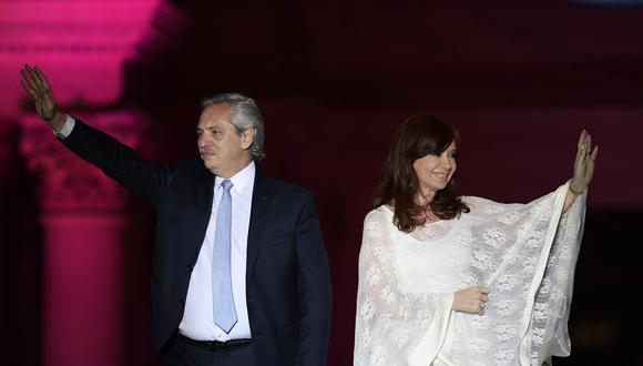 Alberto Fernandez y Cristina Fernandez de Kirchner. (Photo by JUAN MABROMATA / AFP)