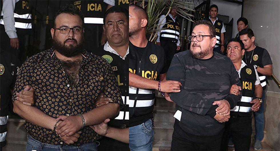 El Poder Judicial dictó 36 meses de prisión preventiva en contra de los hermanos Frank y Jorge Chávez Sotelo. (Foto: GEC)